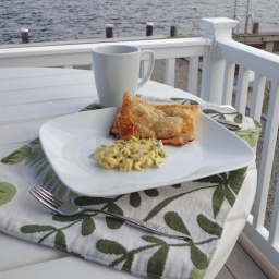 Saturday morning breakfast on the water